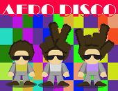 Afro Disco In Unique Hairstyle