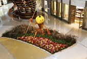 Floral sculpture in the atrium of Aria Hotel and Casino