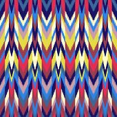 pic of gobelin  - Colorful Ikat pattern for textile wallpaper card - JPG