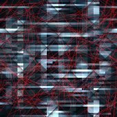 Dark abstract pattern with the red lines.