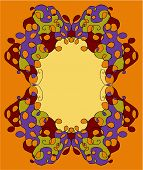 Abstract Tracery Frame Painted By Hand. V