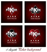 Poker vector background with card symbol