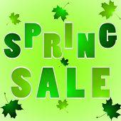 Illustration Of Words Spring Sale
