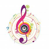 Abstract background with Violin key