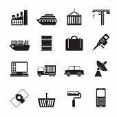 Silhouette Industry and Business icons