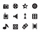 Silhouette Entertainment Icons