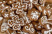 Homenade Christmas Cakes Close Up