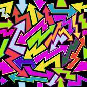 picture of graffiti  - Vector illustration of seamless graffiti pattern - JPG