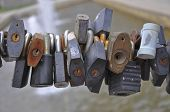 Many various padlock