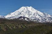 Mountain Landscape Of Kamchatka: Ichinsky Volcano