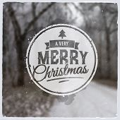 Merry Christmas creative graphic message for winter design