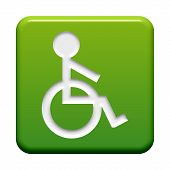 Button with Icon: Wheelchair
