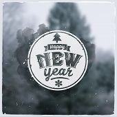 Happy New Year. Creative graphic message for winter design