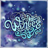 Winter hand lettering