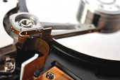 Hard Disk Close Up