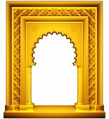 Oriental style gold frame