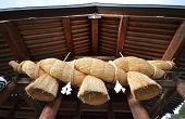 The Gold Rope Of Izumo Shrine In Izuma, Shimane Perfecture