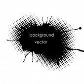 Grunge Spot Background For Inscriptions