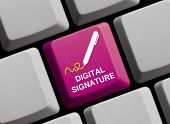 Computer Keyboard: Digital Signature
