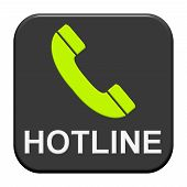 Button with Telephone Icon: hotline