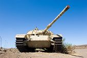 picture of golan-heights  - Old centurion tank of the yom kippur war at  - JPG