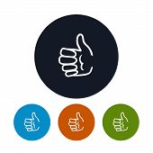Icon Hand Giving Thumbs Up , Vector Illustration