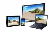 Laptop, Pc, Smart Phone And Pad