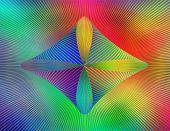 Abstract rainbow flare illustration