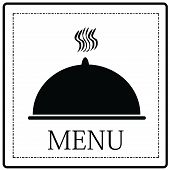 Classic Simple Black And White Menu Cover