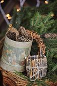 Christmas rustic decorations