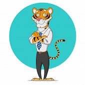 picture of tigers  - Office tiger - JPG
