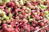 image of tamarind  - Manila tamarind fruit at the market  - JPG