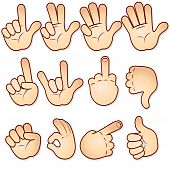 pic of middle finger  - Cartoon hands collection  - JPG
