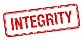 image of integrity  - integrity red square grungy vintage isolated stamp - JPG