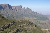 picture of ethiopia  - Panorama of the landscape of Semien Mountains National Park - JPG