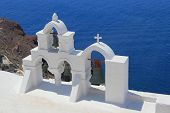 foto of canopy roof  - The architecture of the village of Ia in Santorini Greece - JPG