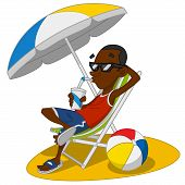 stock photo of shale  - Man on vacation - JPG