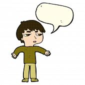 picture of annoying  - cartoon annoyed boy with speech bubble - JPG