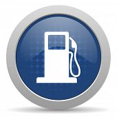 picture of petrol  - petrol blue glossy web icon  - JPG
