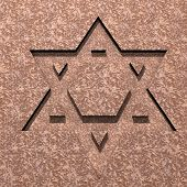 stock photo of covenant  - stylized image Star of David made in stone - JPG