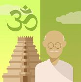 pic of hindu  - Vector image of a concept of religion of Hindu - JPG