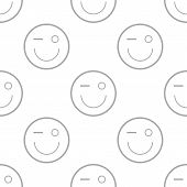 foto of emoticon  - Smiling emoticons on a white background - JPG