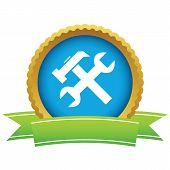 foto of rework  - Gold repair logo on a white background - JPG