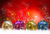 Christmas Balls background, illustration of Christmas Card