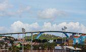 foto of curacao  - A Huge high bridge arching over Curacao - JPG