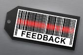 picture of barcode  - feedback barcode with stainless steel background - JPG