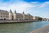 picture of royal palace  - Castle Conciergerie a former royal palace and prison Paris France - JPG