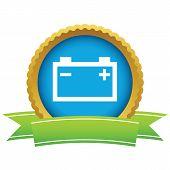 foto of accumulative  - Gold accumulator logo on a white background - JPG