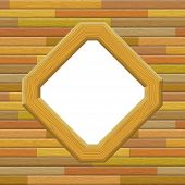 picture of parallelogram  - Wooden Frame on a Wall with Empty White Space - JPG