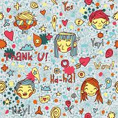 foto of you are awesome  - Vector pattern for web page backgrounds - JPG